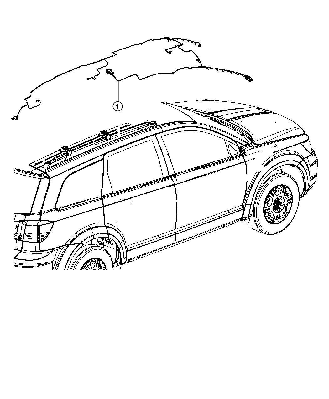 Dodge Journey Wiring Header Trim No Description