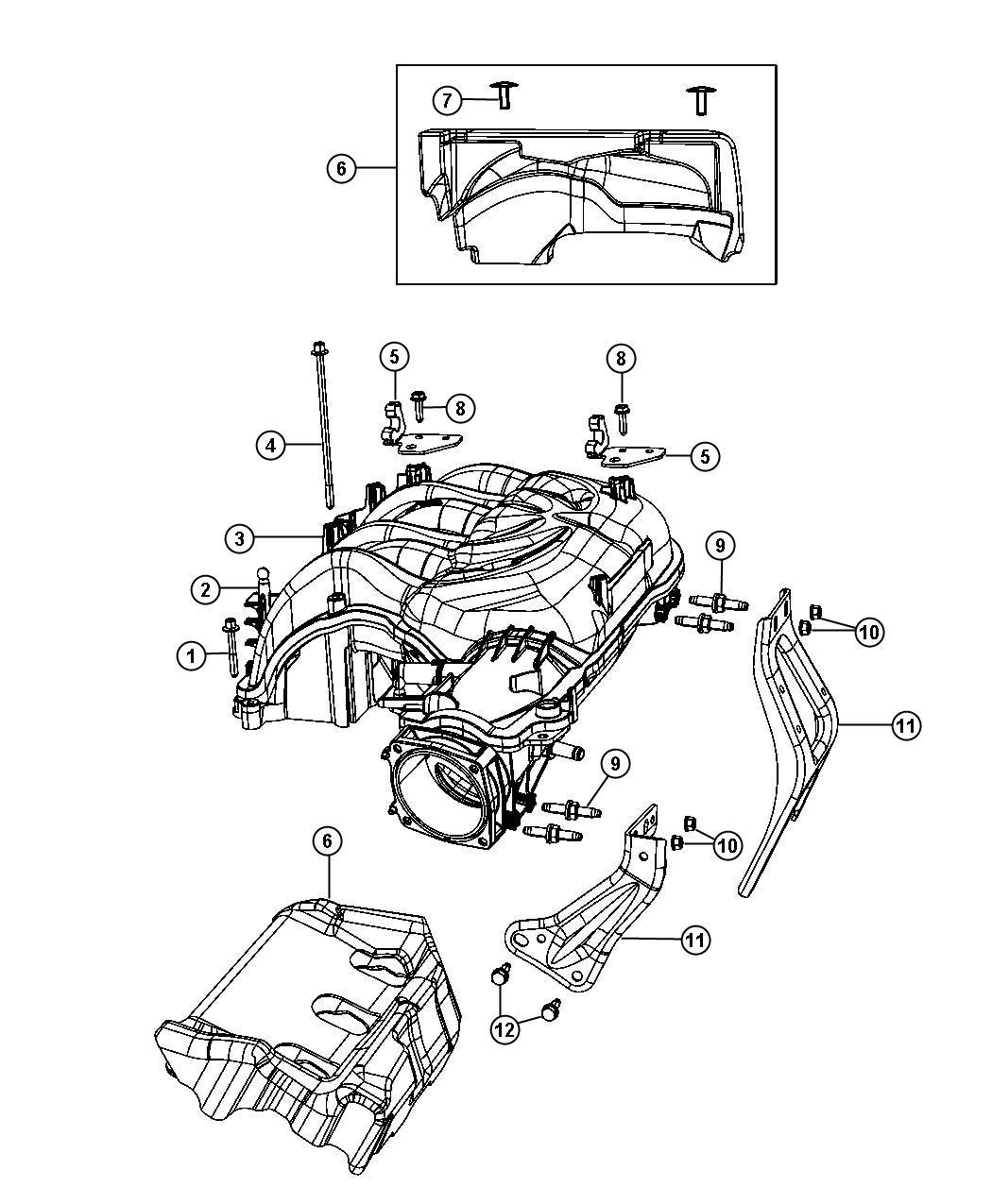 Jeep Wrangler Pad Lower Engine Under Intake Plenum