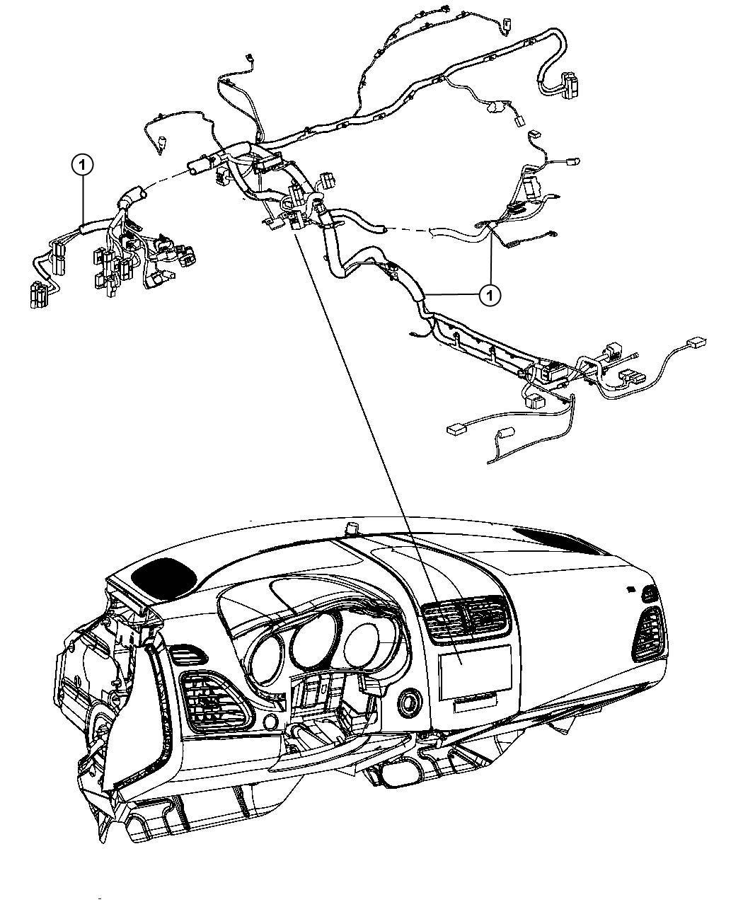 Chrysler 200 Wiring Instrument Panel Stability Speakers