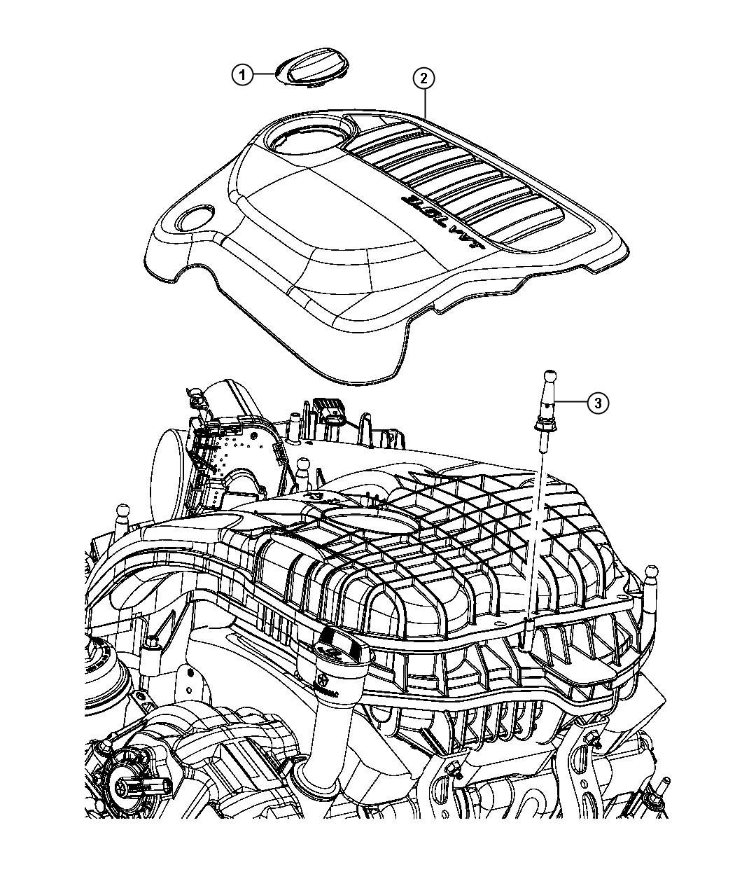 Dodge Avenger Cover Engine R T Enhanced Intake Note