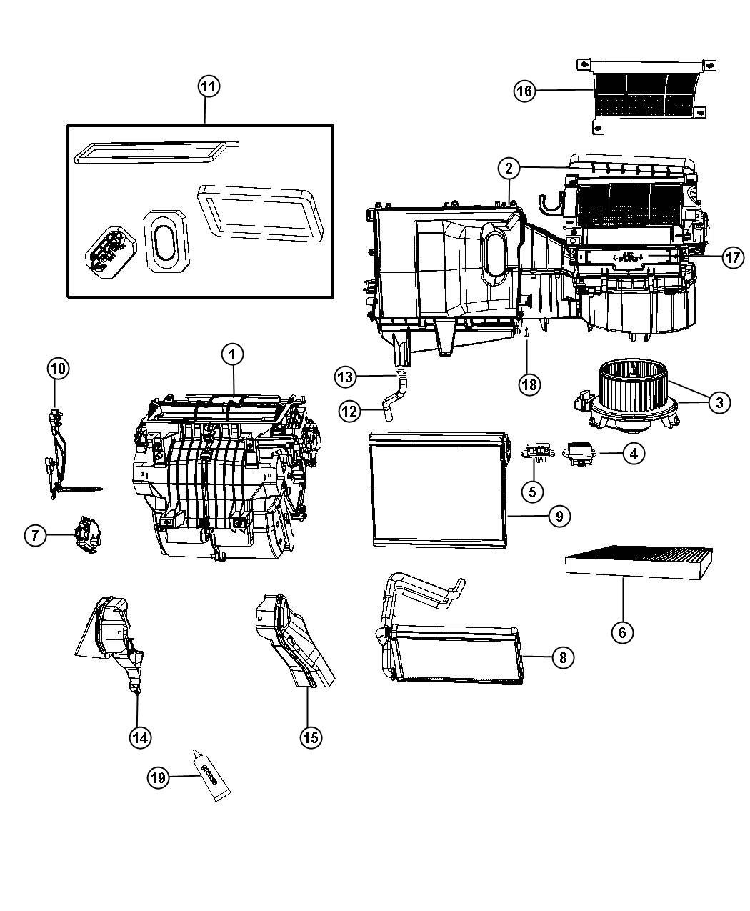 Dodge Express Seal Kit A C And Heater Unit