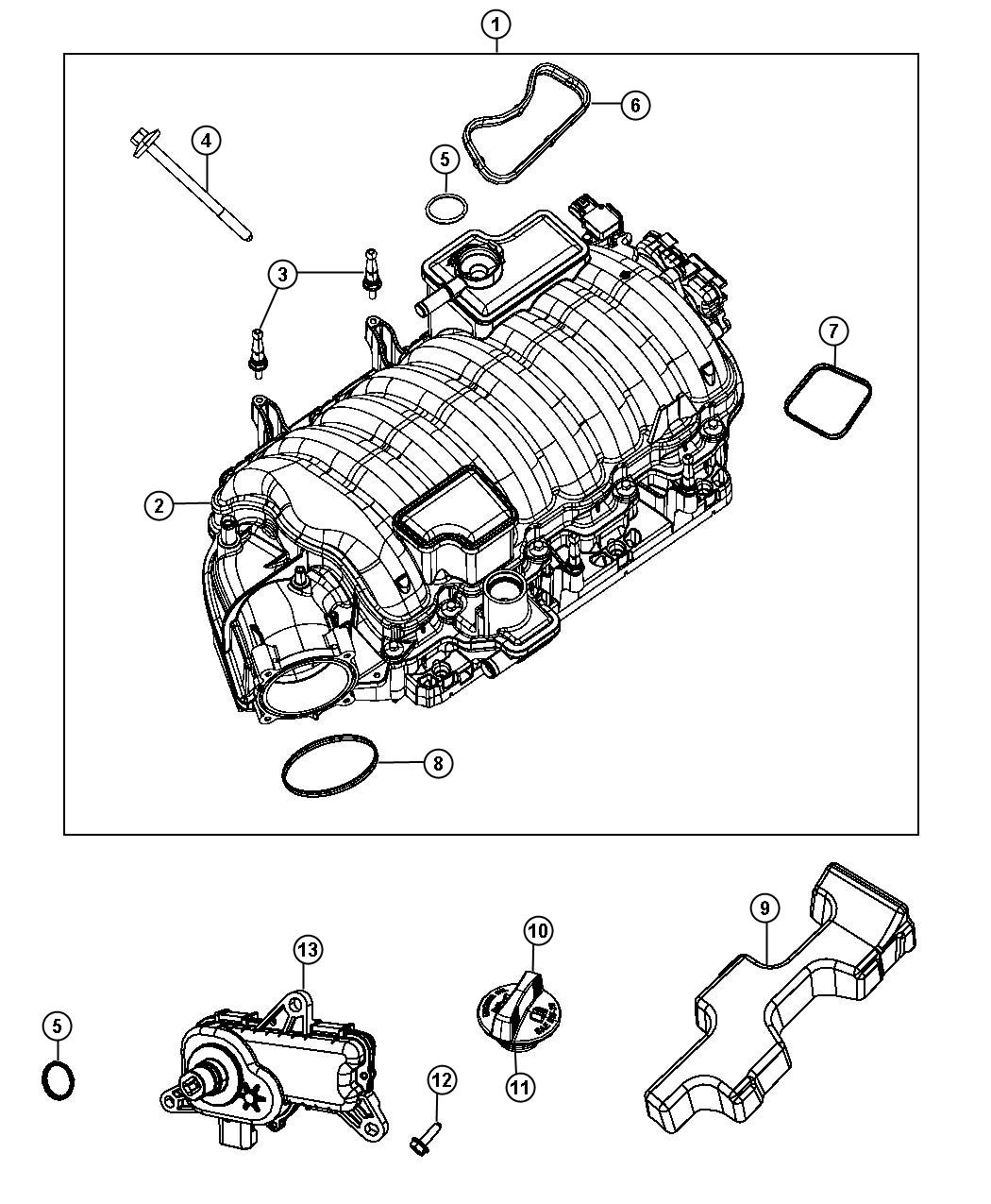 Dodge Challenger Actuator Intake Short Running Valve