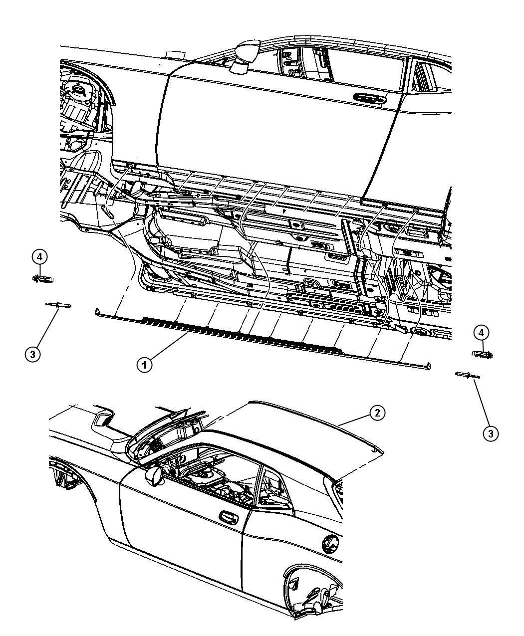 Dodge Challenger Cladding Front Door Right