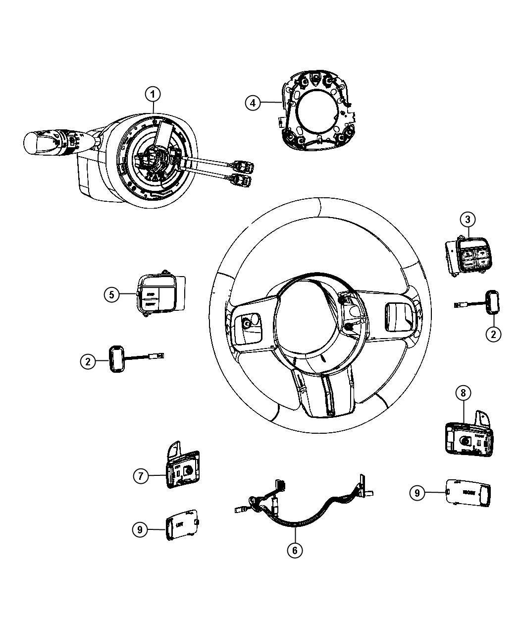 Dodge Charger Module Steering Column Trim All Trim