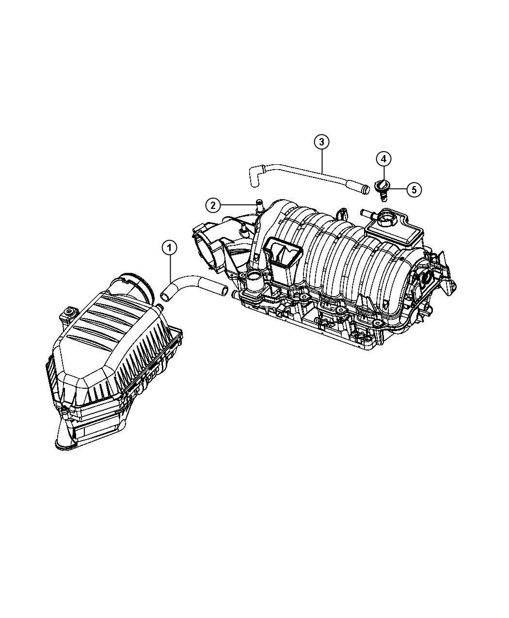 Dodge Charger Valve Pcv Crankcase Ventilation Mds