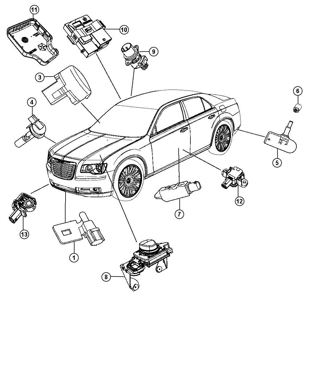 Chrysler 300 Sensor Humidity