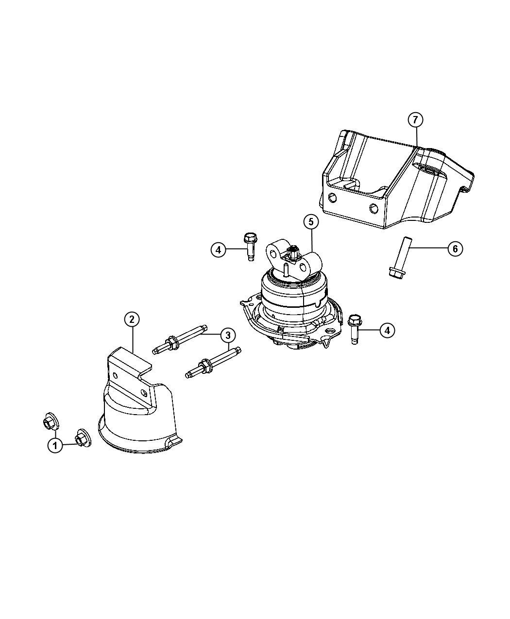 Chrysler 300 Cushion Engine Support Left Side Right