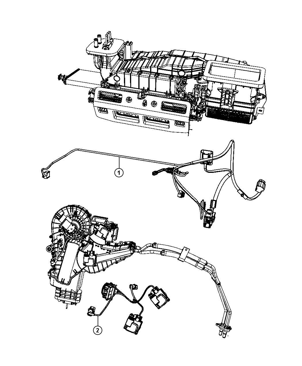 Dodge Grand Caravan Wiring Used For A C And Heater Rear