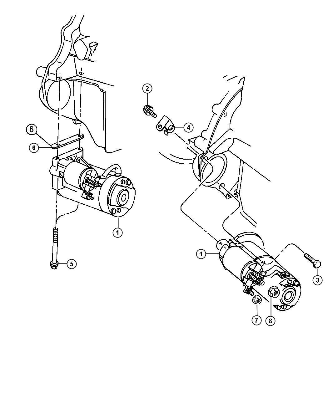 Jeep Wrangler Starter Engine Remanufactured Export