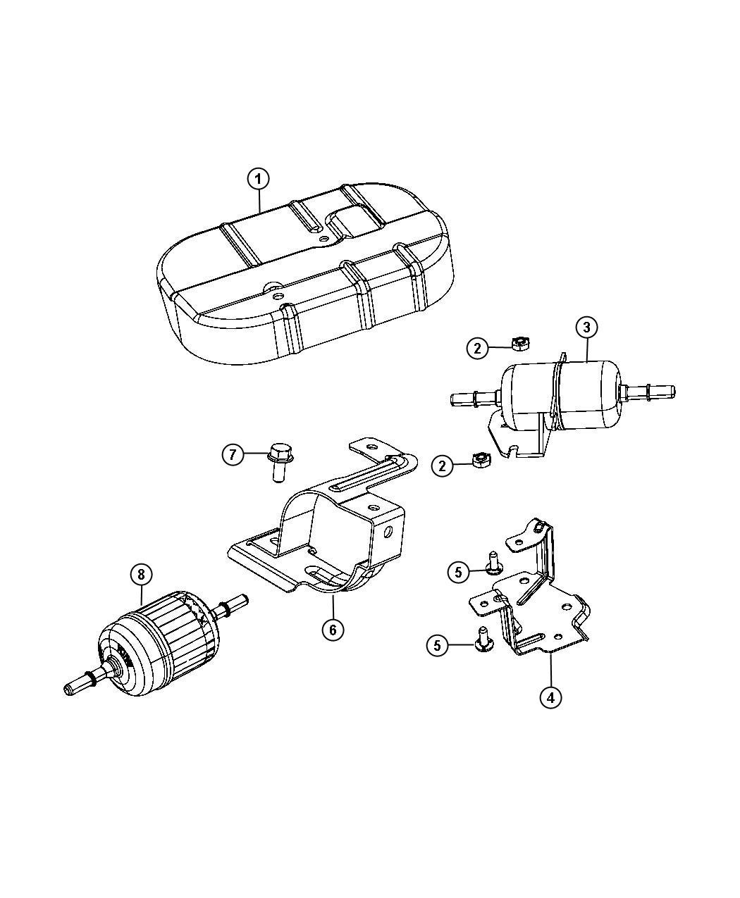 Fiat 500e Filter Fuel Maintenance