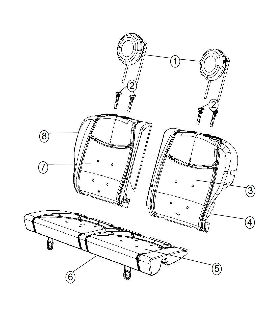 Fiat 500 Sleeve Headrest Locking Trim Leather Trimmed