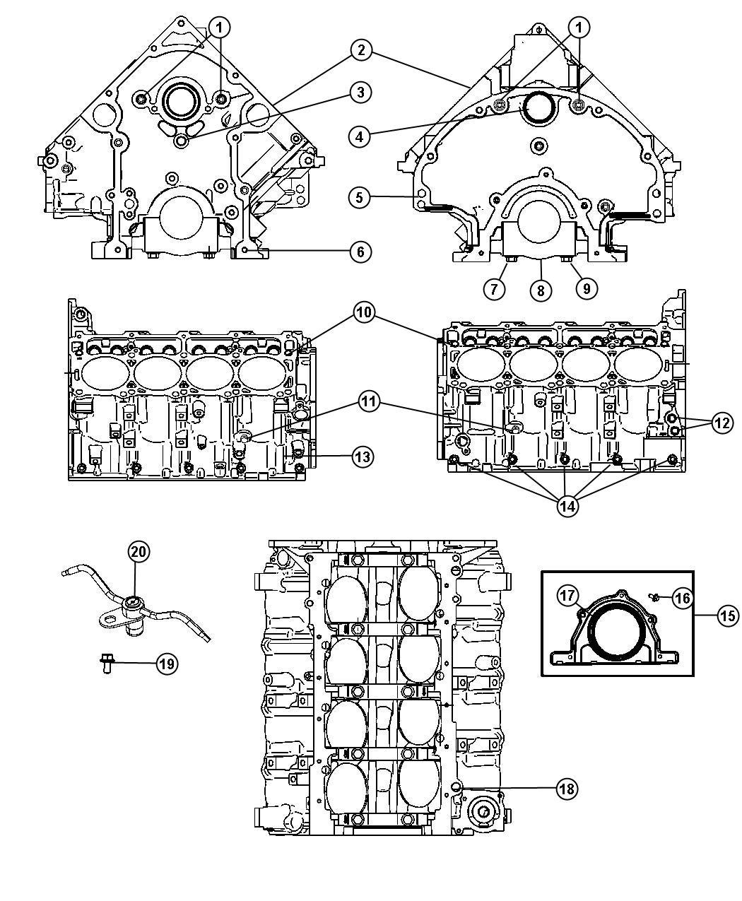 Dodge Charger Jet Piston Oil Cooler Cylinder Block Engine