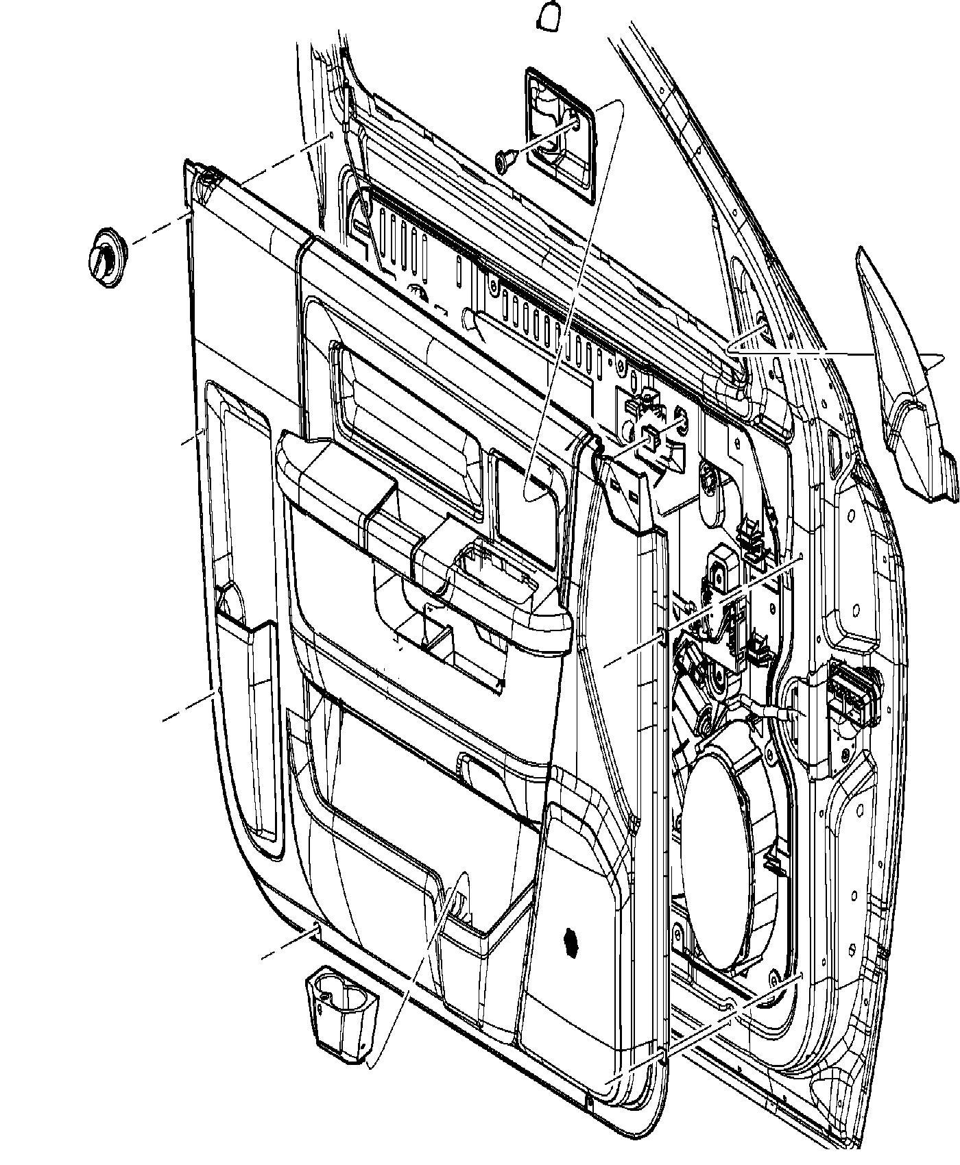 Dodge Ram Panel Front Door Trim Left Trim