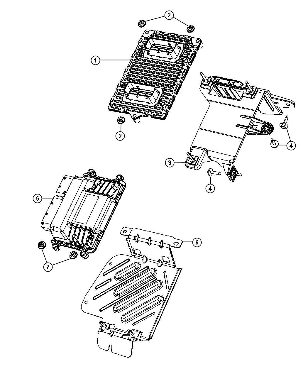 Dodge Dart Bracket Transmission Control Module