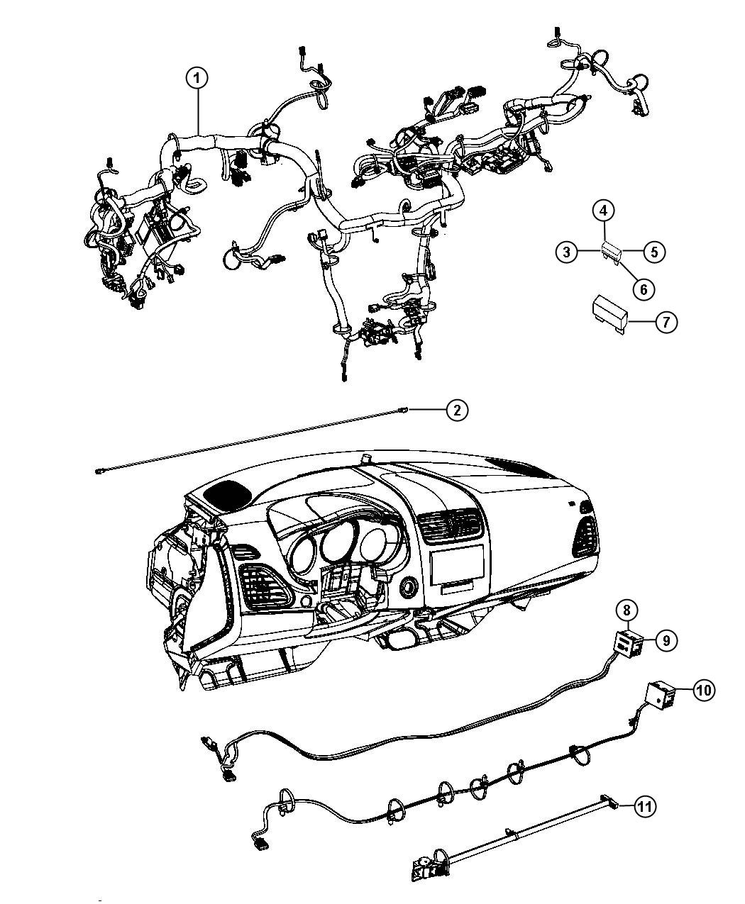 Dodge Dart Wiring Instrument Panel Conditioning Command