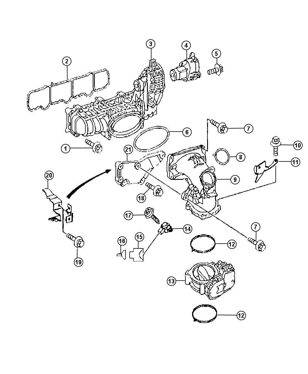 Dodge Sprinter Screw Mounting Intake Manifold