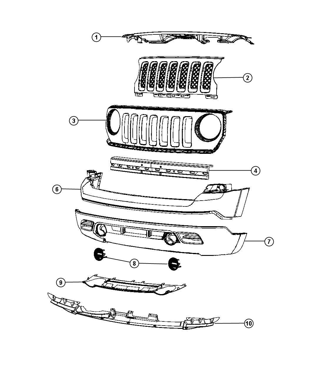 Jeep Patriot Foam Front Bumper Fascia Color Body
