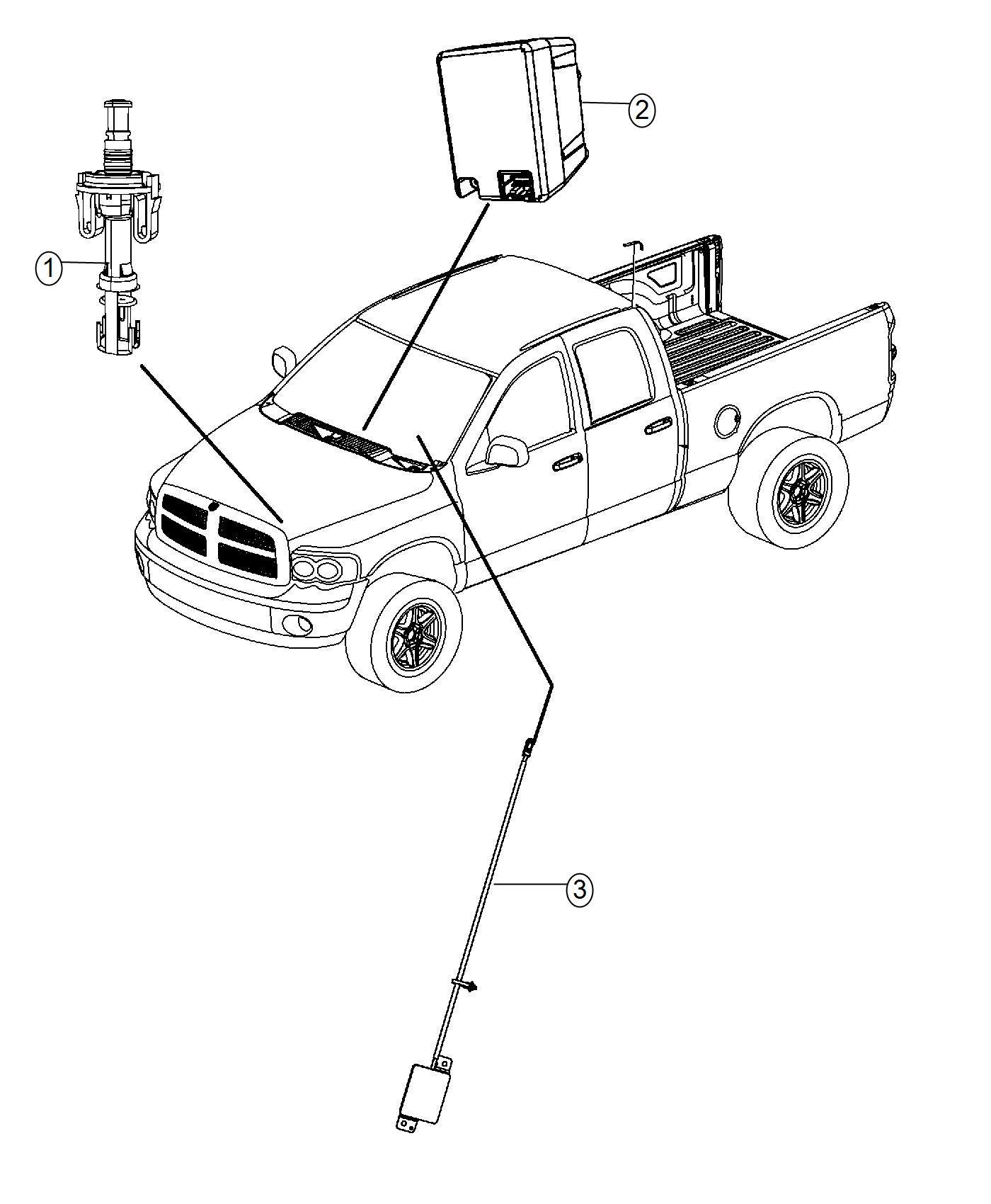 Dodge Ram Receiver Hub Remote Start Keyless
