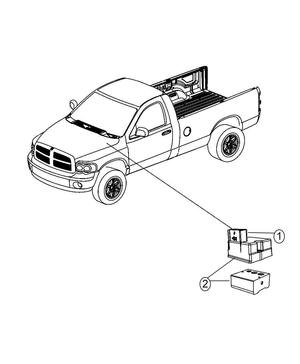 Dodge Ram Module Anti Lock Brake System Control