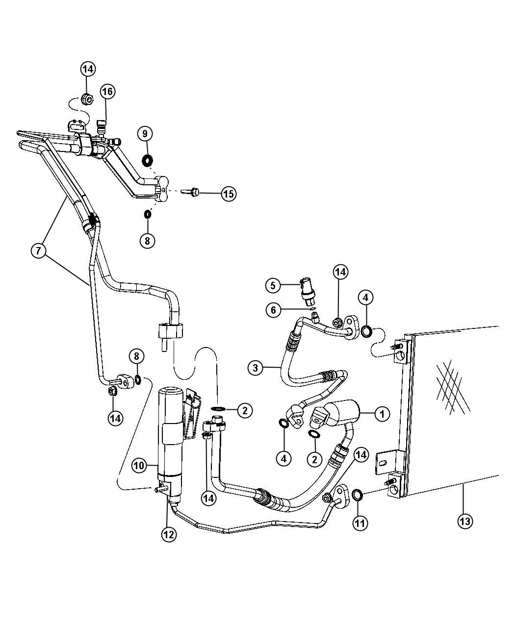 Jeep Compass Drier Receiver After 10 31 11 Up To