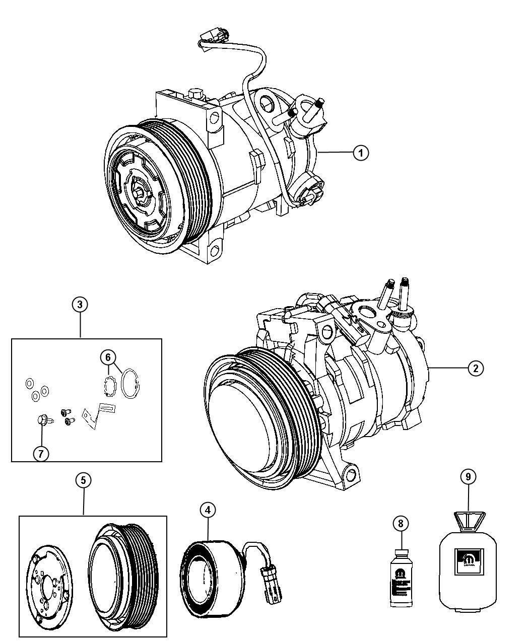 Jeep Compass Compressor Air Conditioning Control Conditioningair Auto