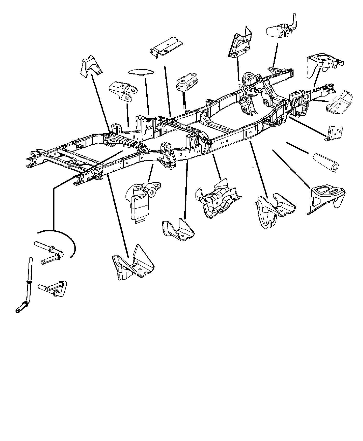 Dodge Ram Rod Exhaust Pipe Support Wheels Rear