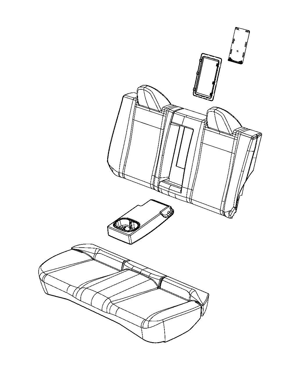 Dodge Avenger Panel Seat Back Rear Rear Seat Back Trim