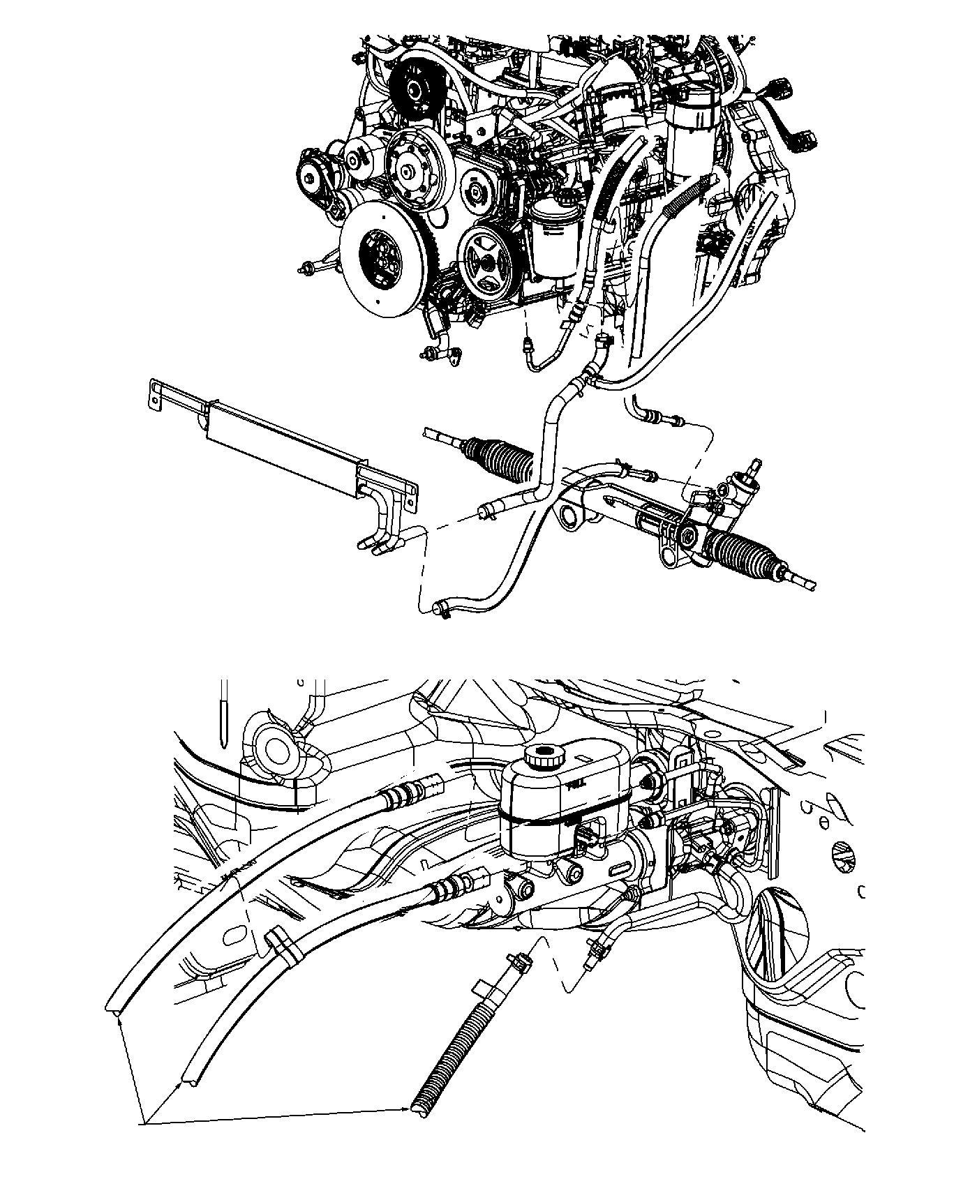 Dodge Ram Hose Power Steering Return Power