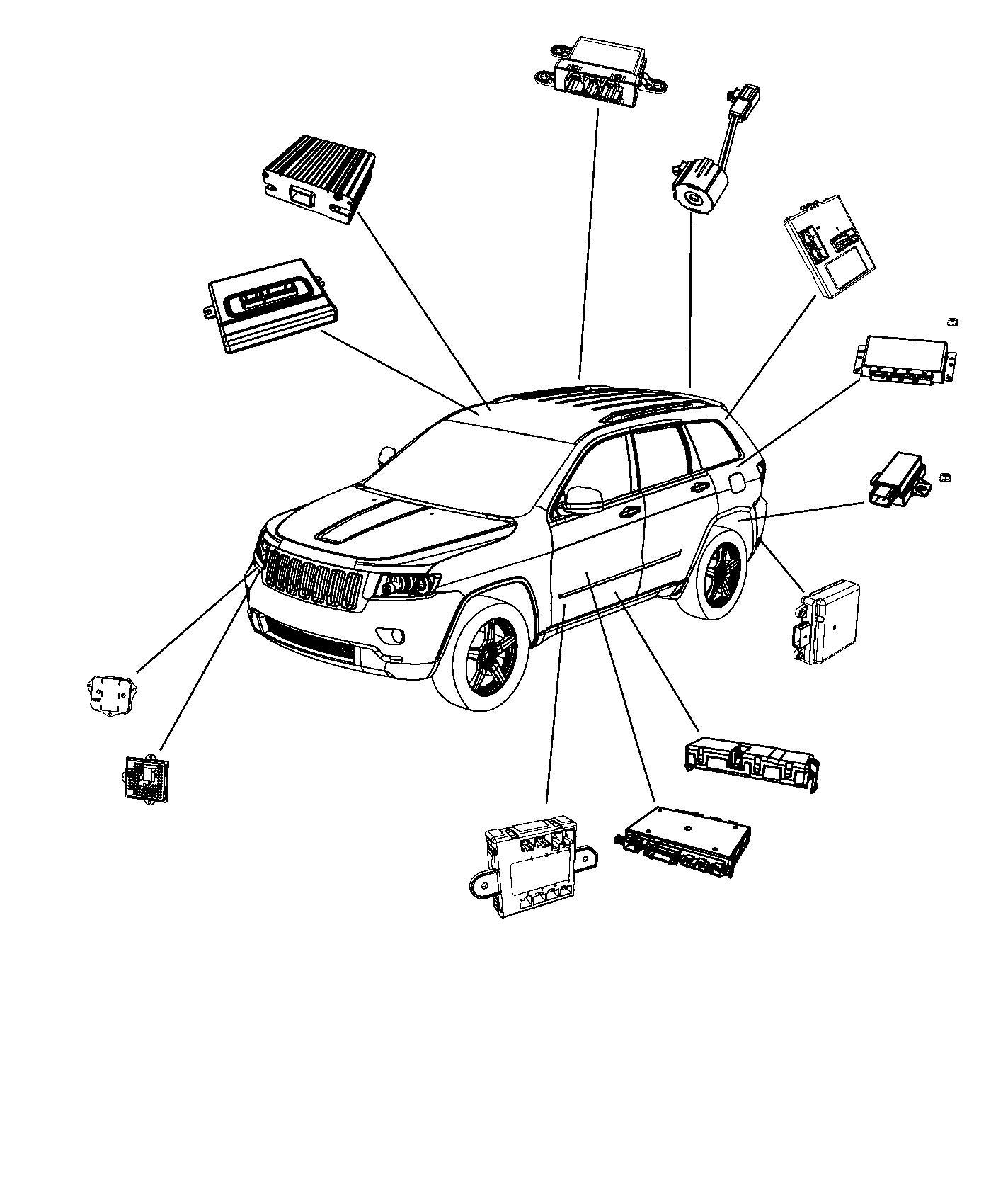 Jeep Grand Cherokee Module Transfer Case Control Quadra