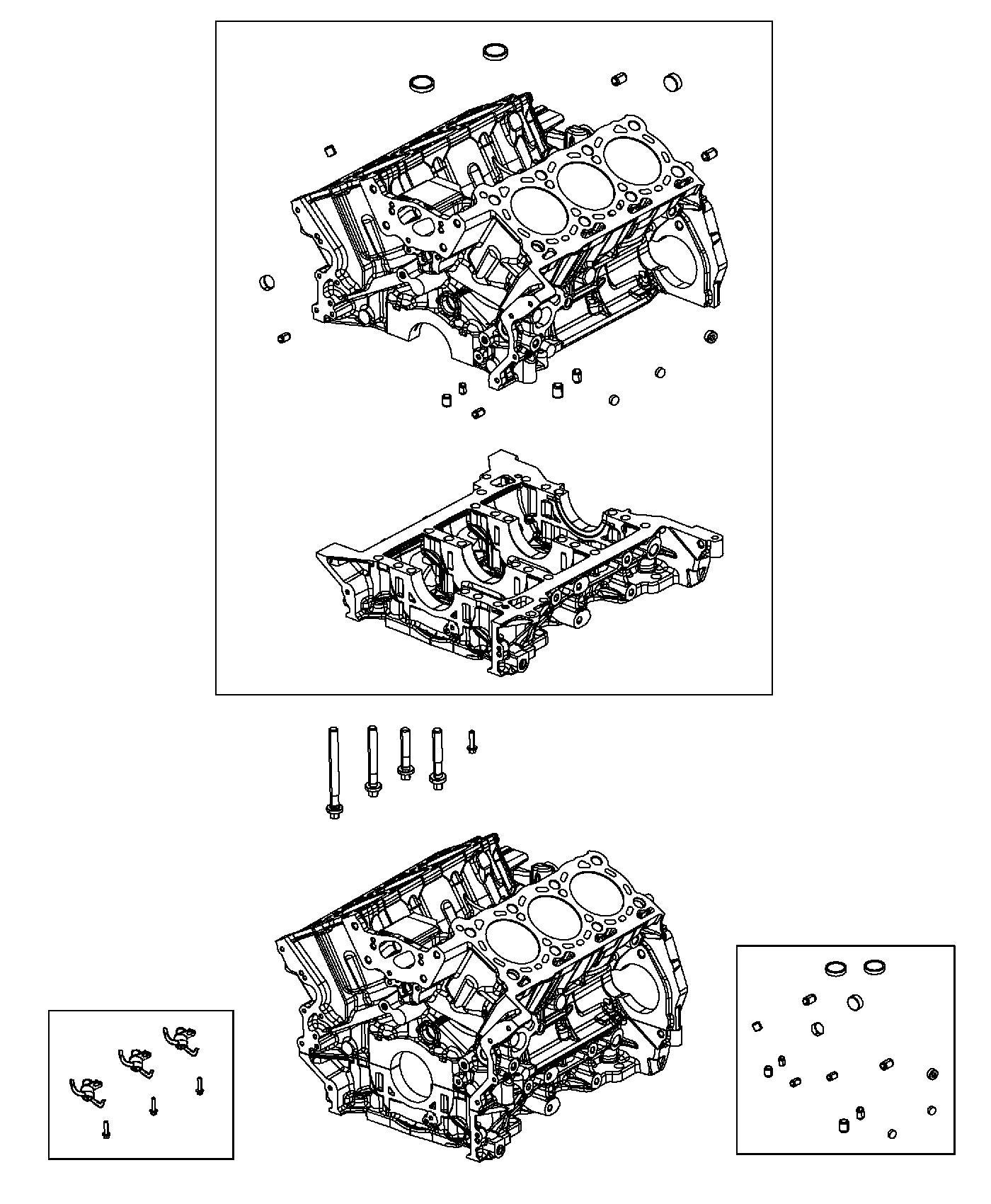 Jeep Grand Cherokee Block Engine Cylinder Euro