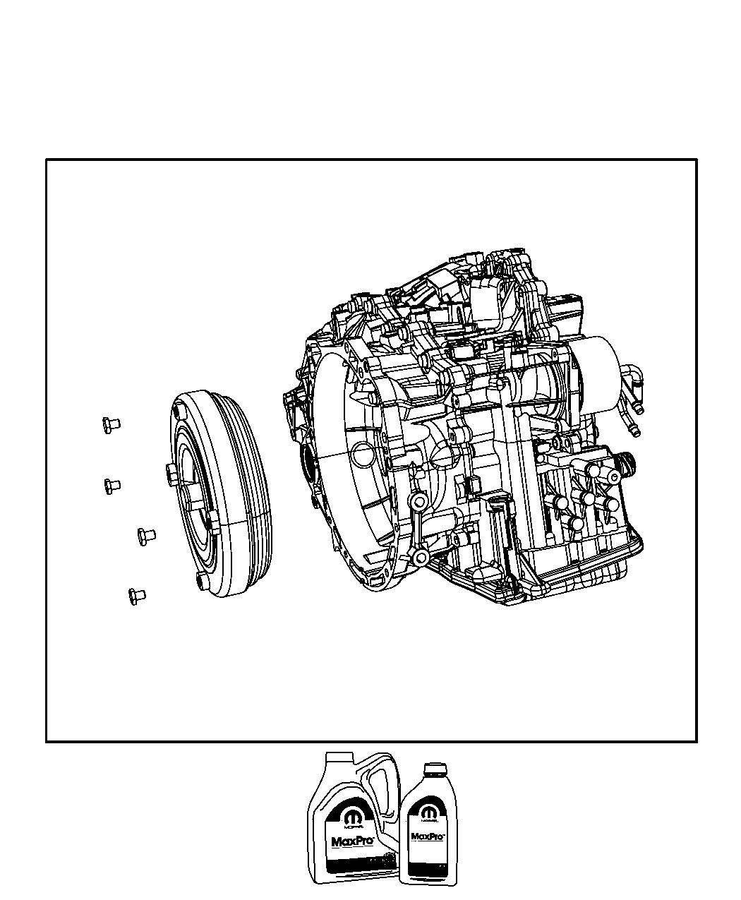 Jeep Compass Transaxle Package With Torque Converter