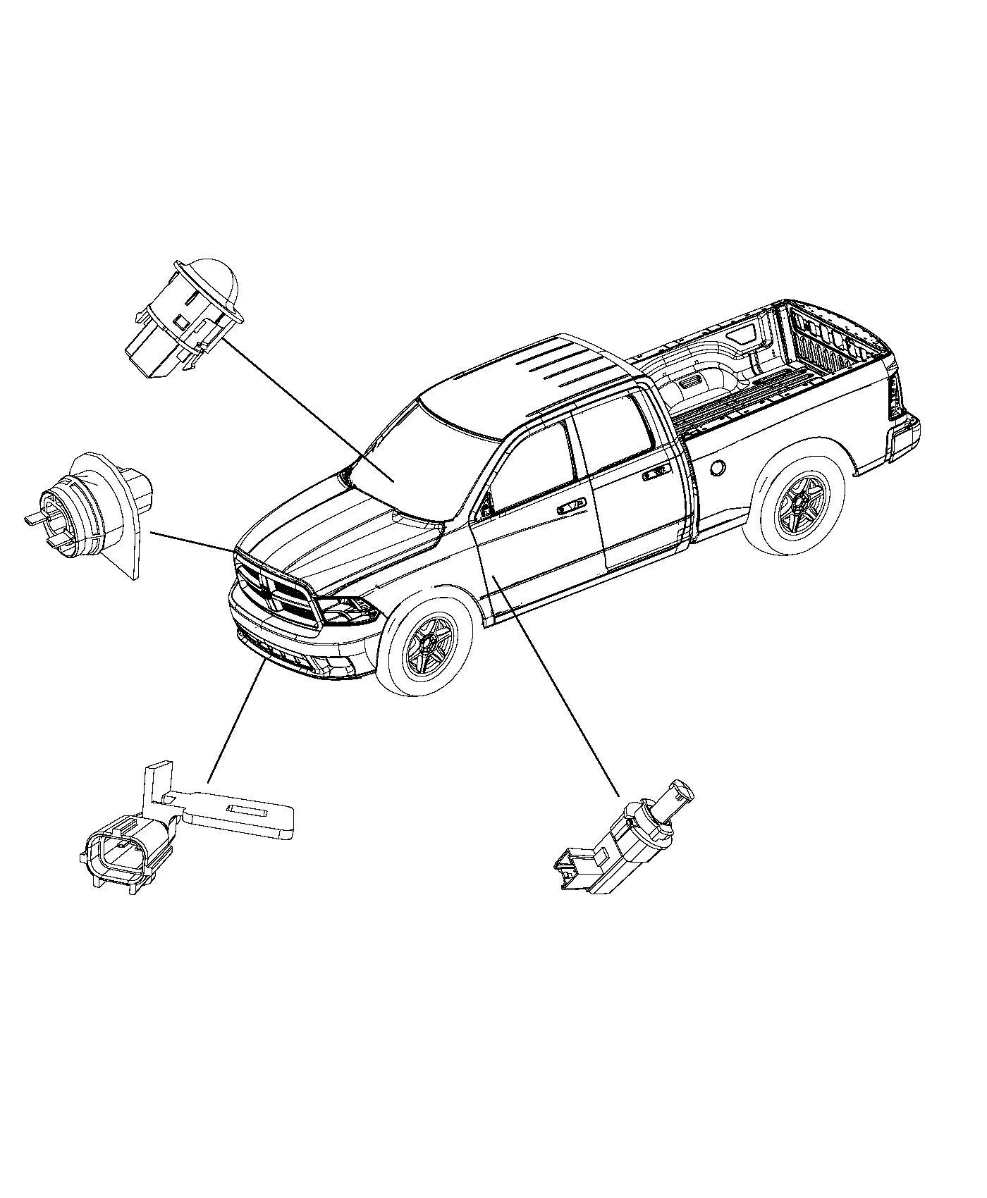 Ram Sensor Brake Pedal Brake Light Switch Sensors
