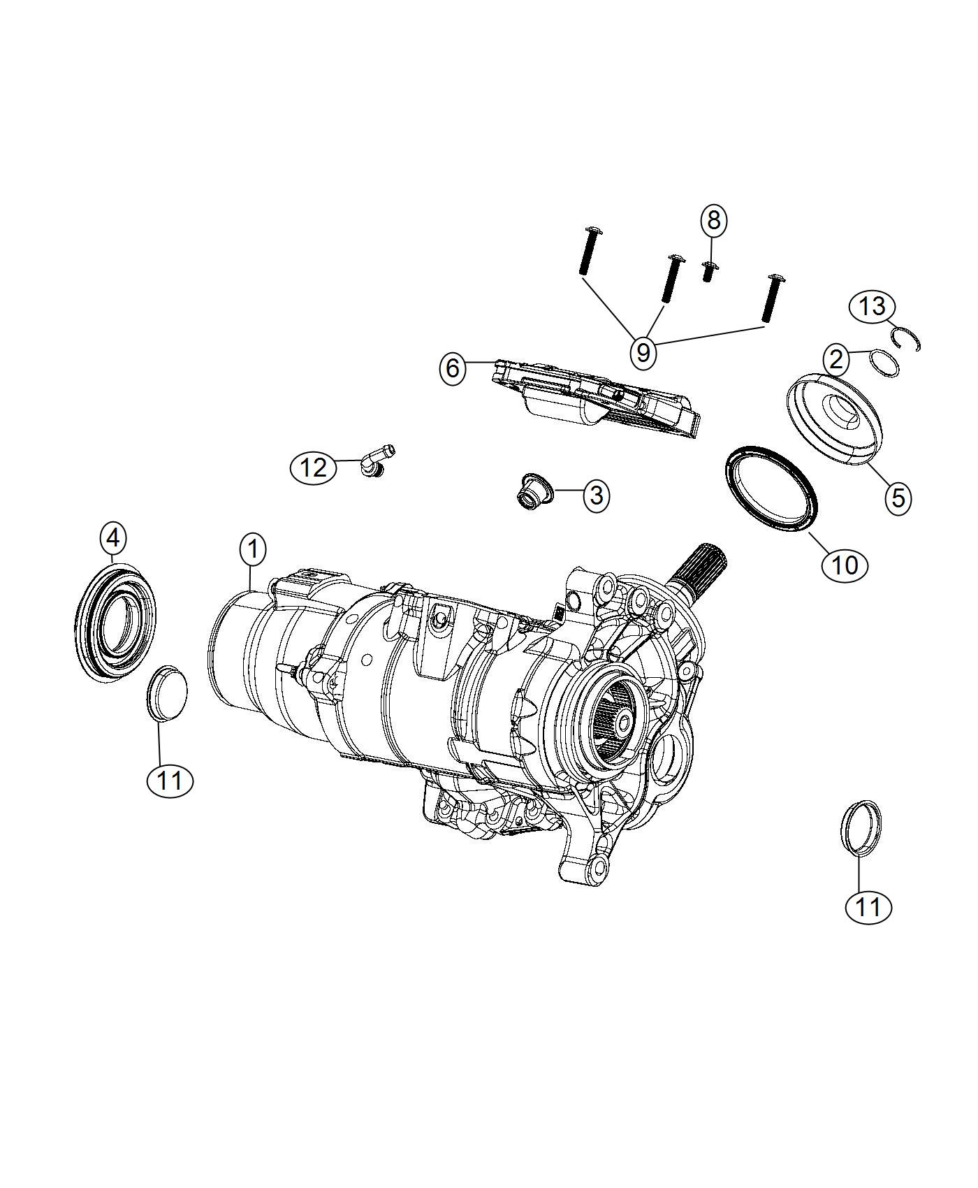 Jeep Cherokee Actuator Transfer Case Power