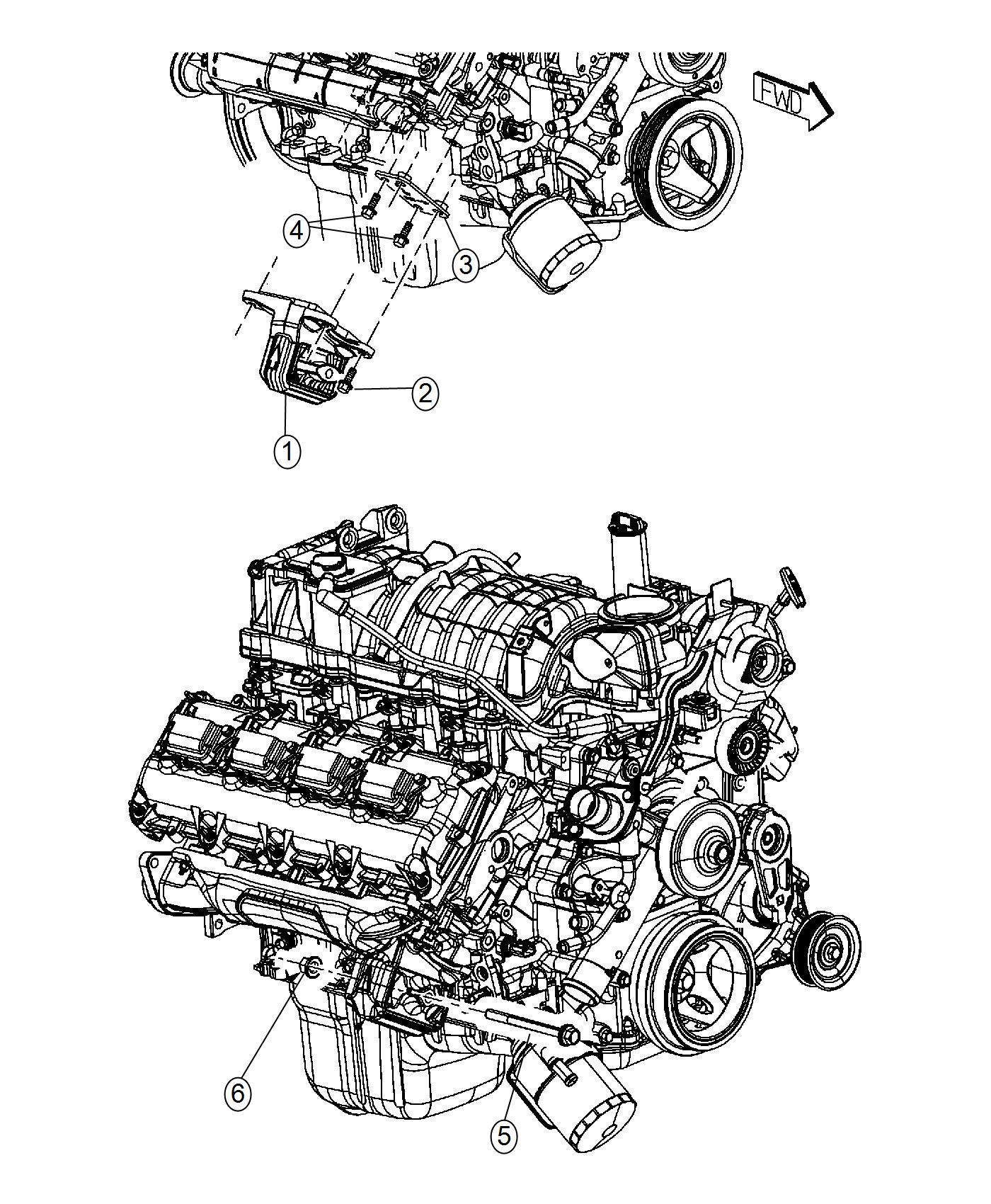Ram Insulator Engine Mount Left Side Right Side