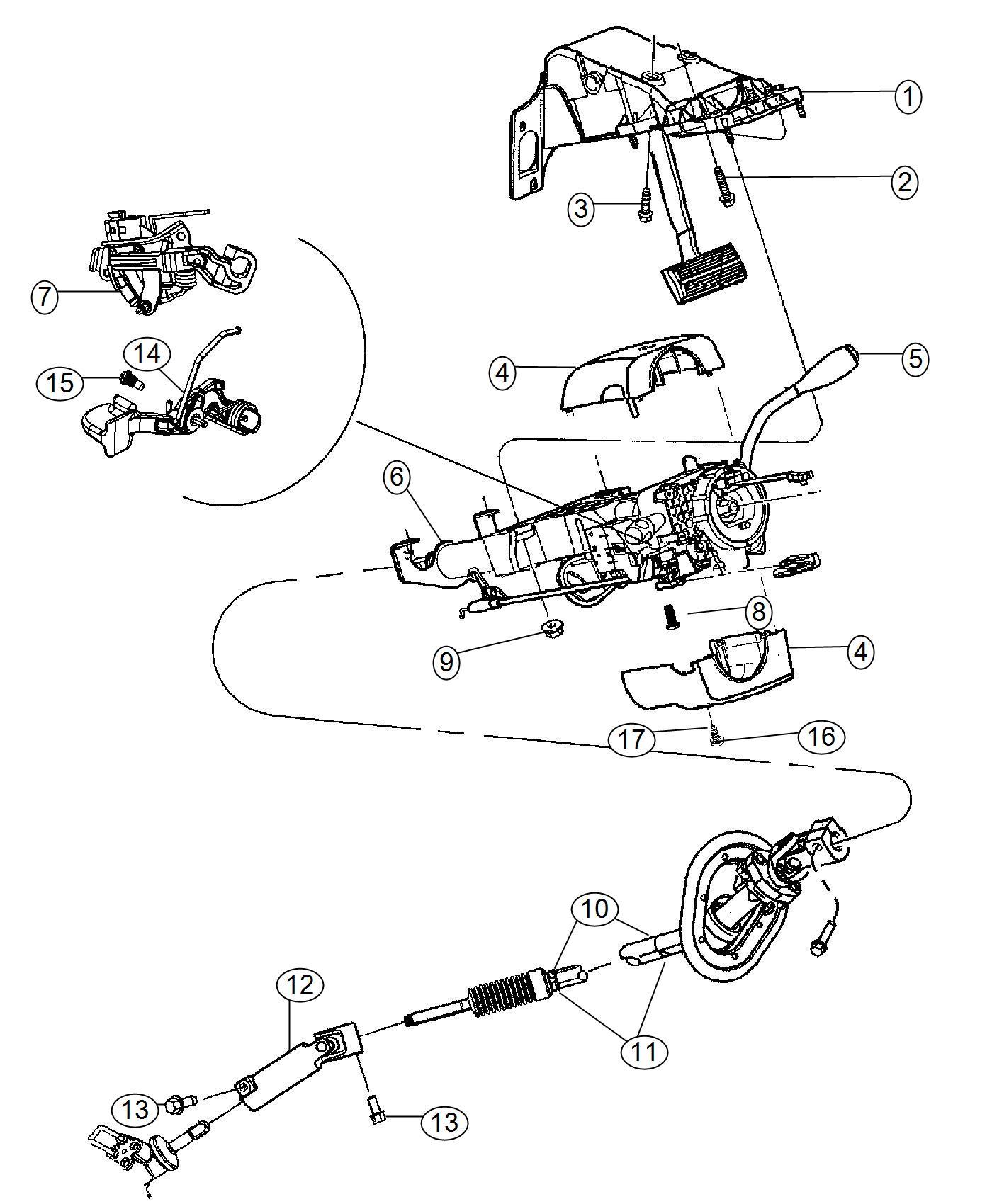 Dodge Ram Column Steering Trim No Description