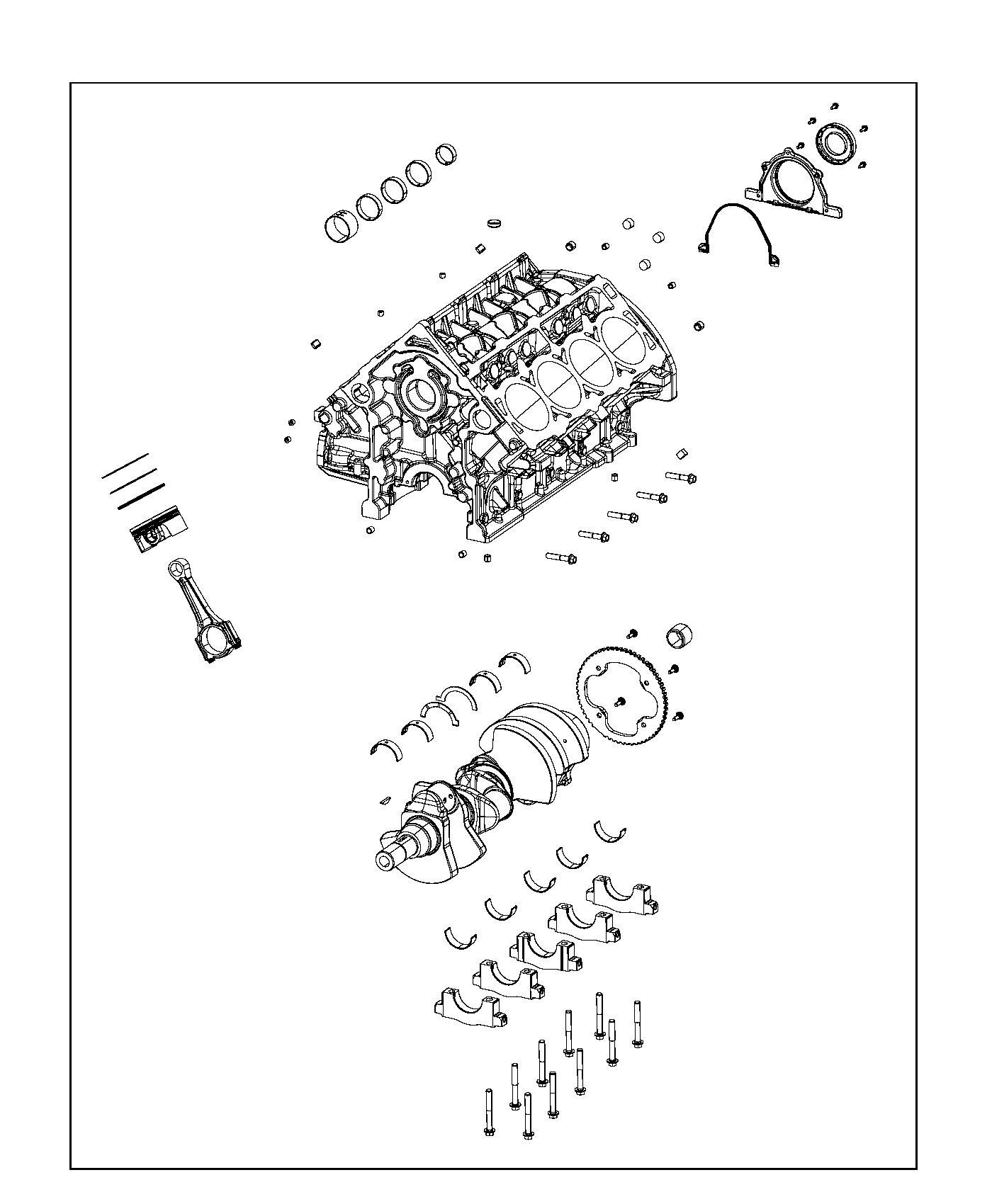 Chrysler 300 Crankshaft Crew Cab Damper Bearings