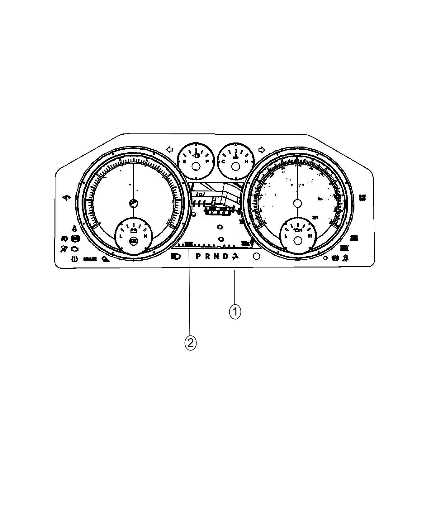 Dodge Ram Used For Mask And Lens Instrument Cluster