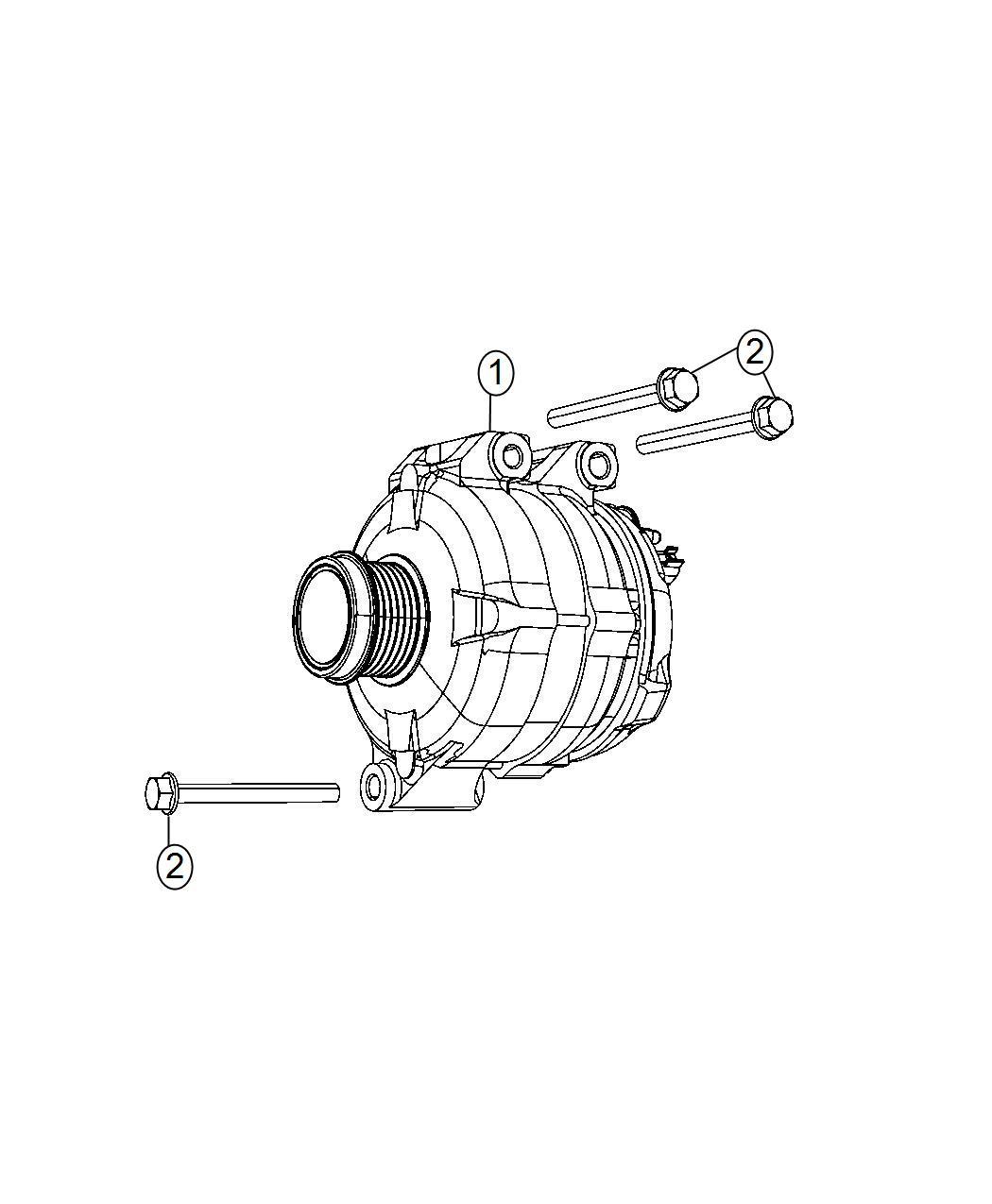 Dodge Magnum Generator Engine Remanufactured 180 Amp Alternator