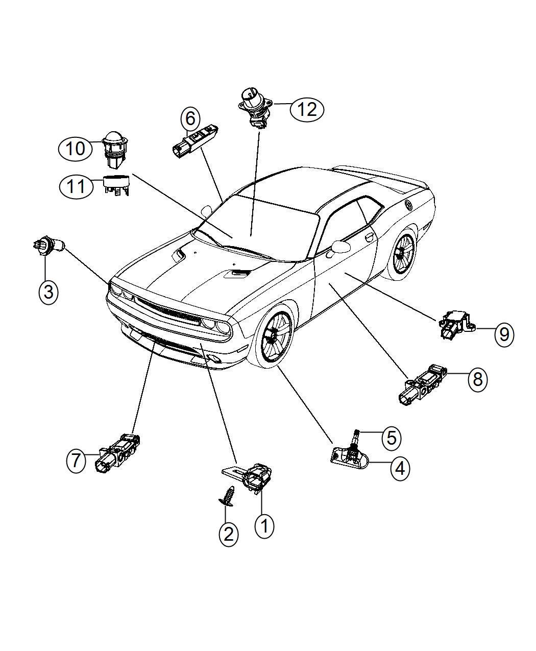 Dodge Challenger Sensor Seat Belt Reminder Trim