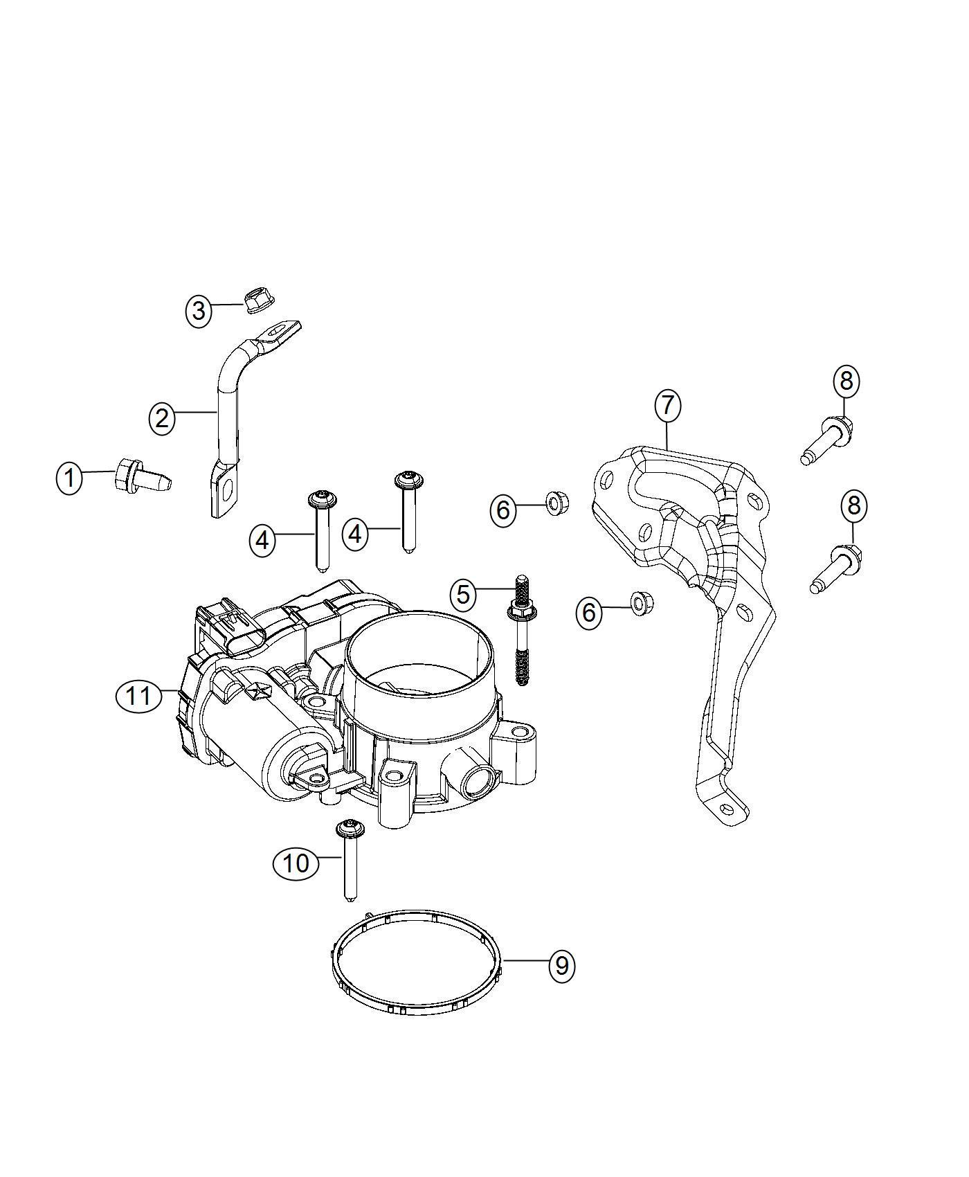 Jeep Cherokee Throttle Body Export Engine Multiair