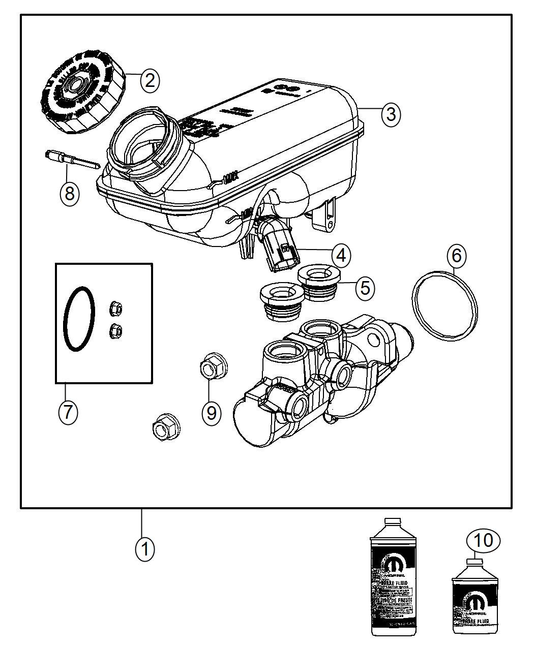 Ram C V Seal Master Cylinder To Booster Disc Wheel