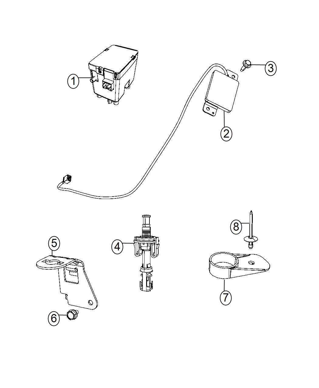 Dodge Grand Caravan Receiver Wireless Ignition Node Trim