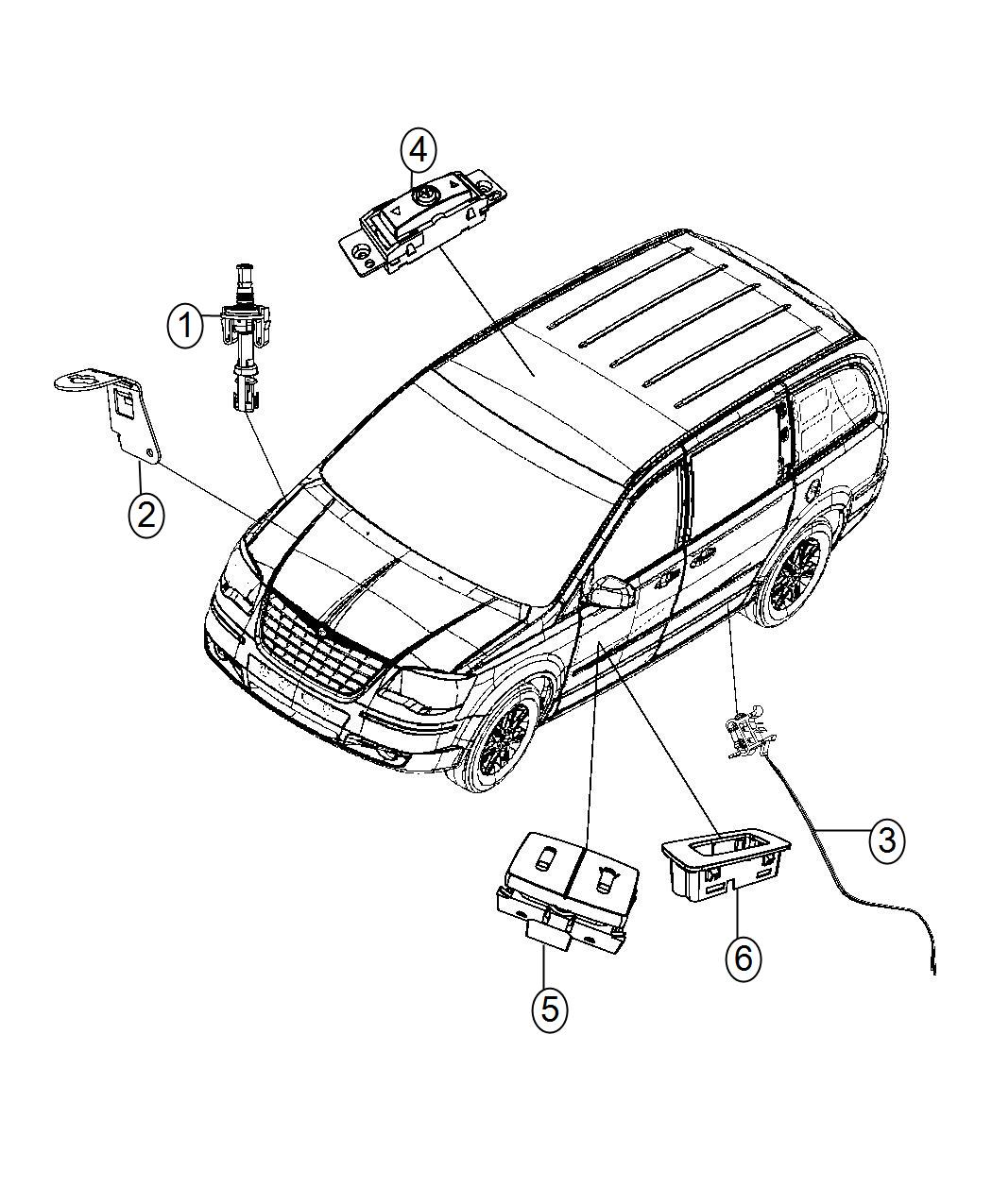 Dodge Grand Caravan Switch Quarter Vent Window Jkg