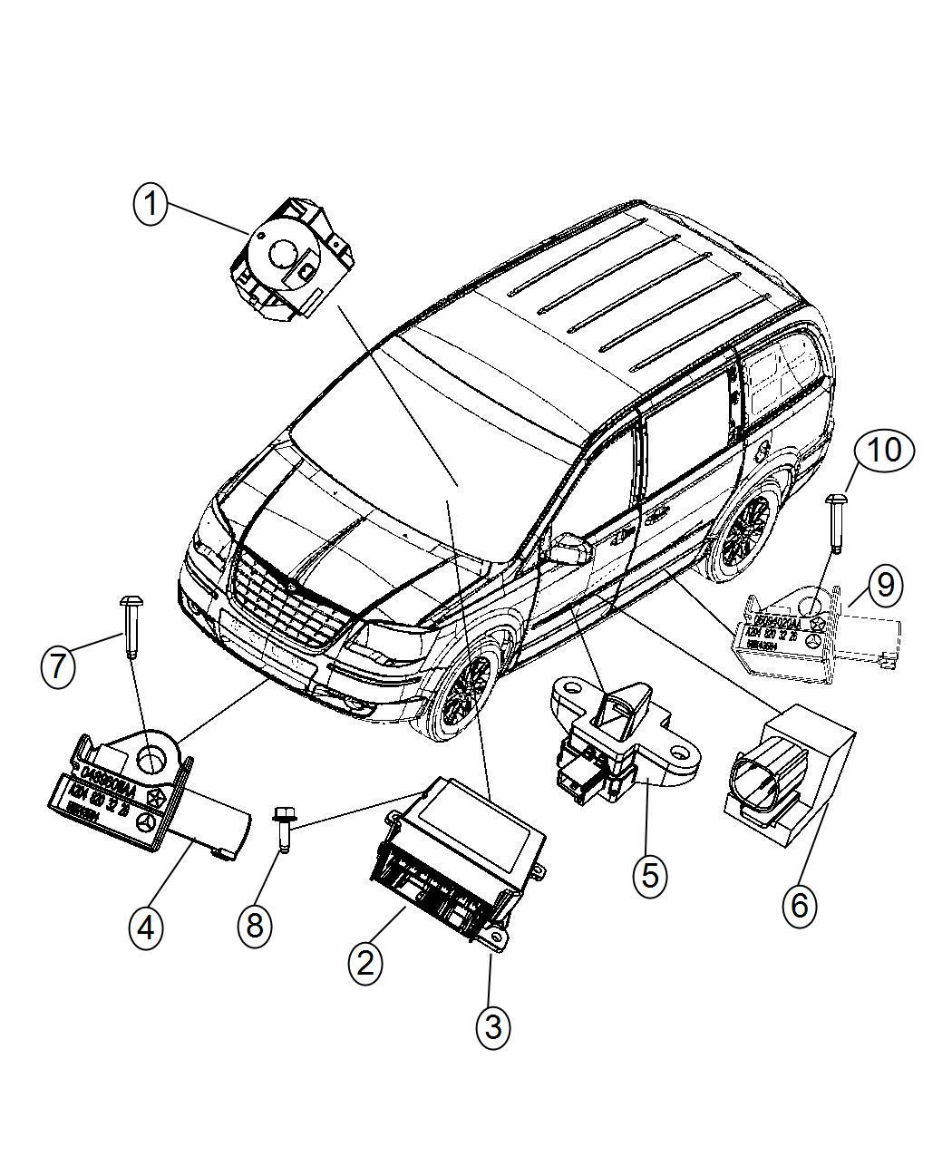 Chrysler Town Amp Country Sensor Steering Angle Clockspring