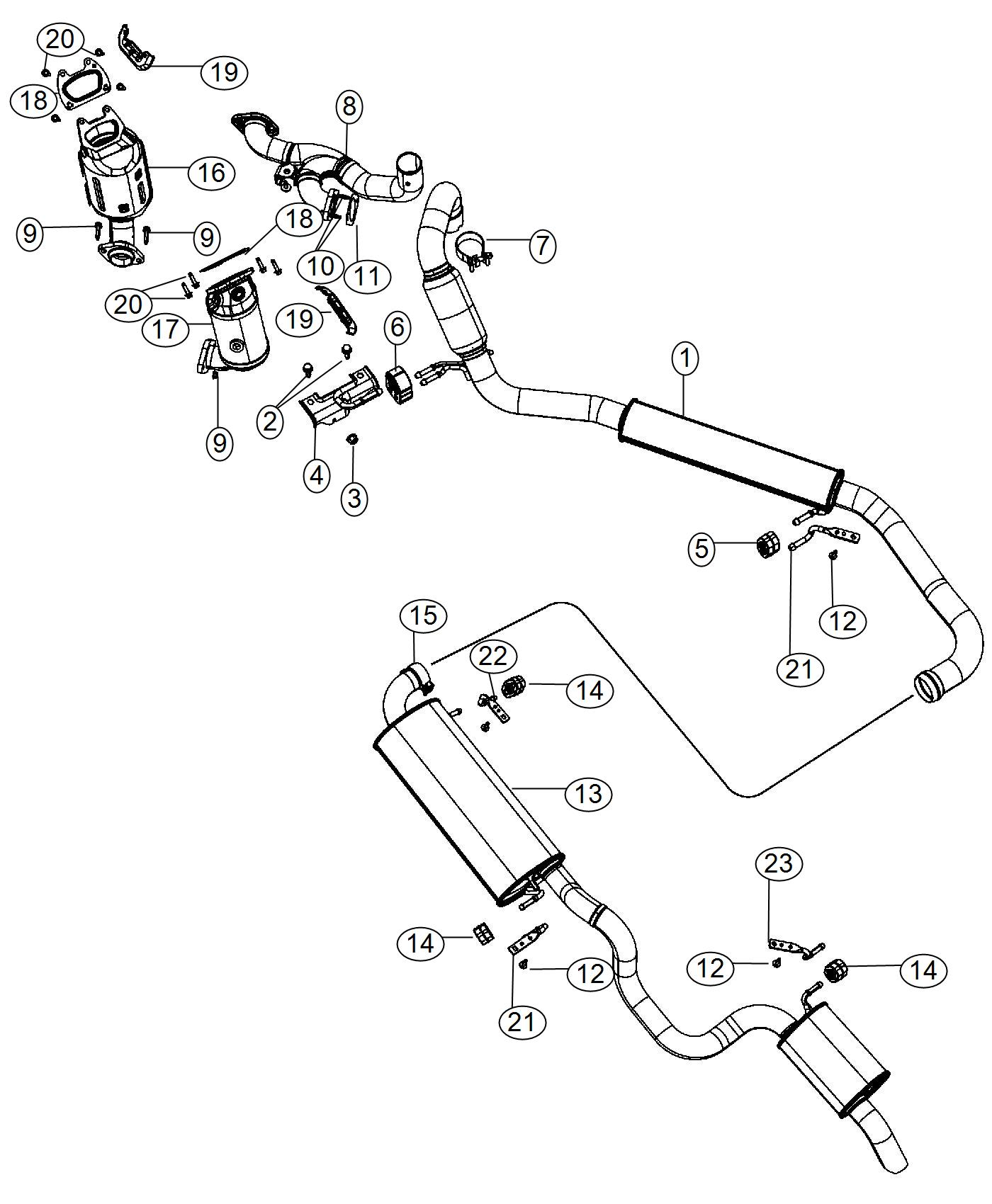 Chrysler Town Amp Country Pipe Exhaust Front System