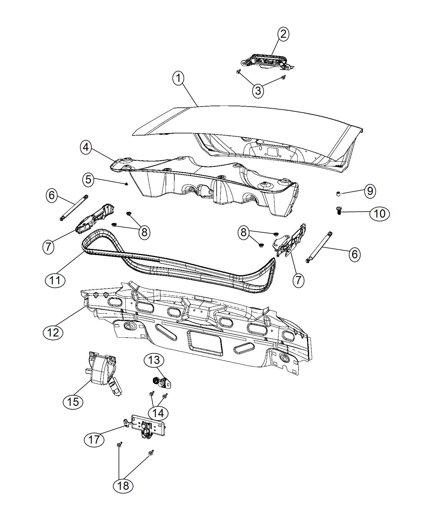 Chrysler 200 Latch Decklid Body Related Mopar