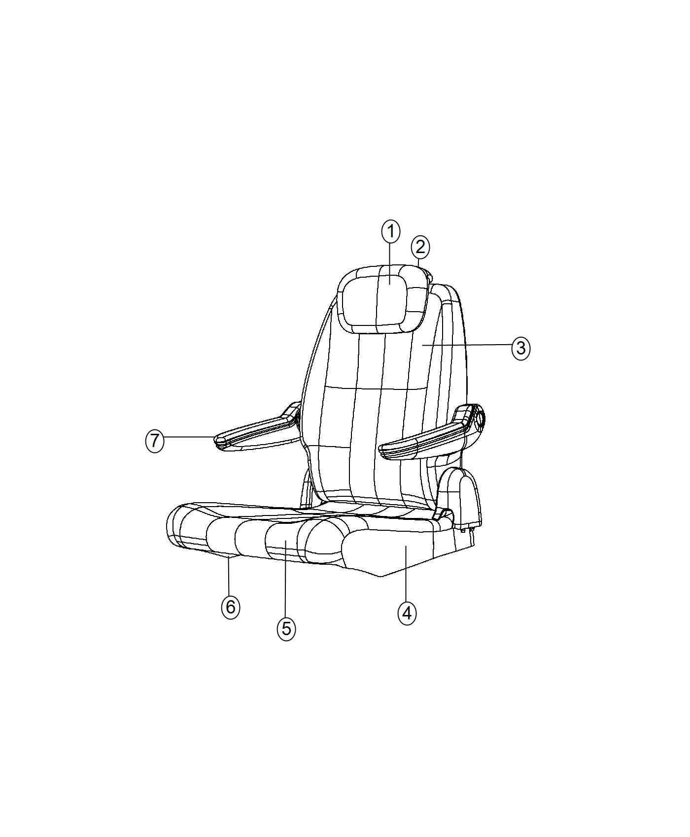 Ram C V Cover Rear Quad Seat Cushion Trim Cloth Low