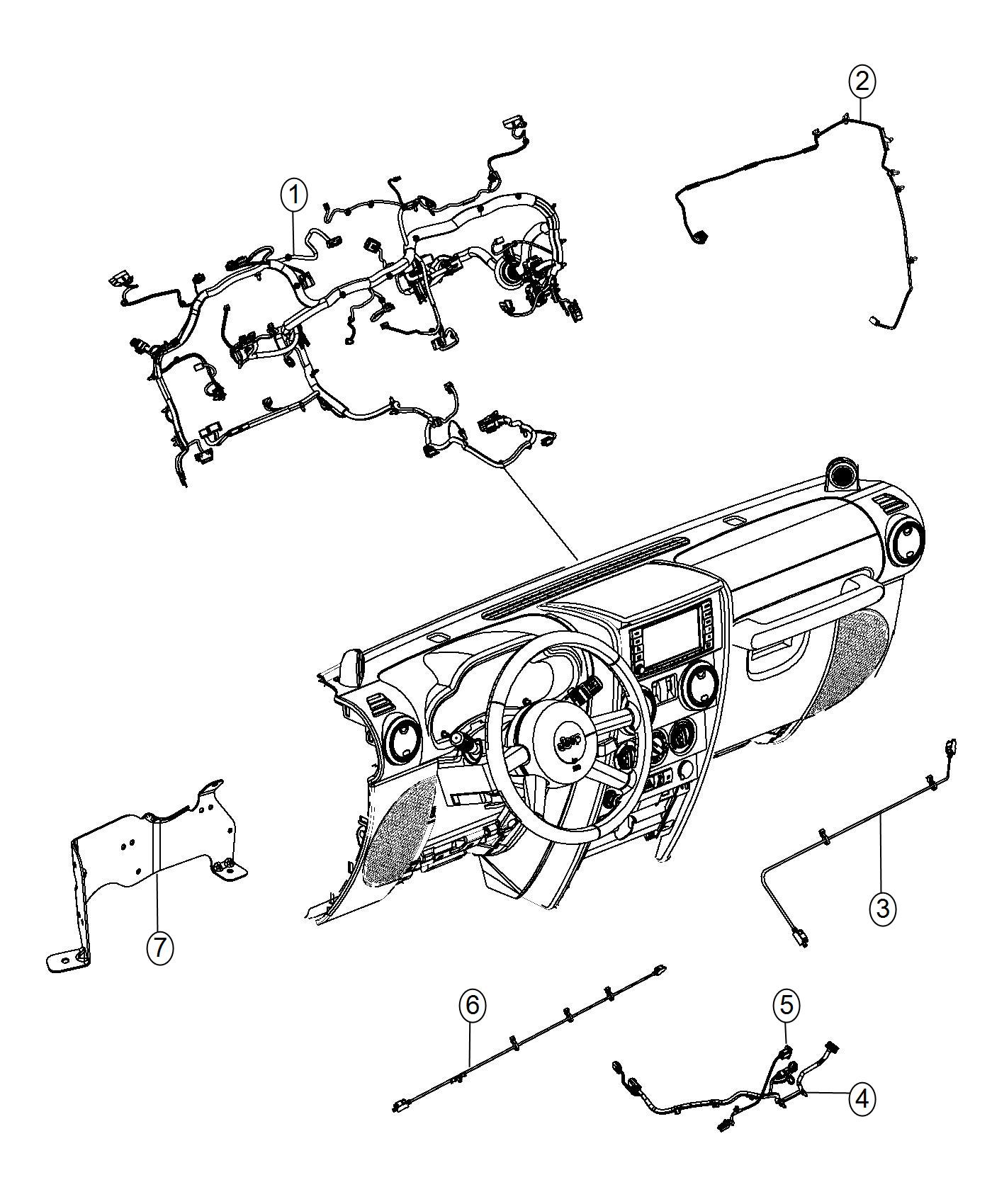 Jeep Wrangler Wiring Instrument Panel Export