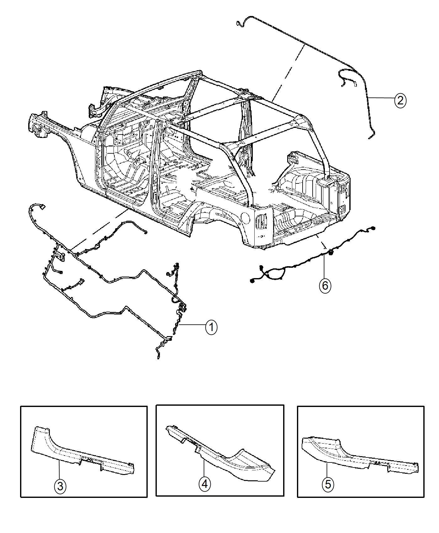 Jeep Wrangler Wiring Console Trim No Description