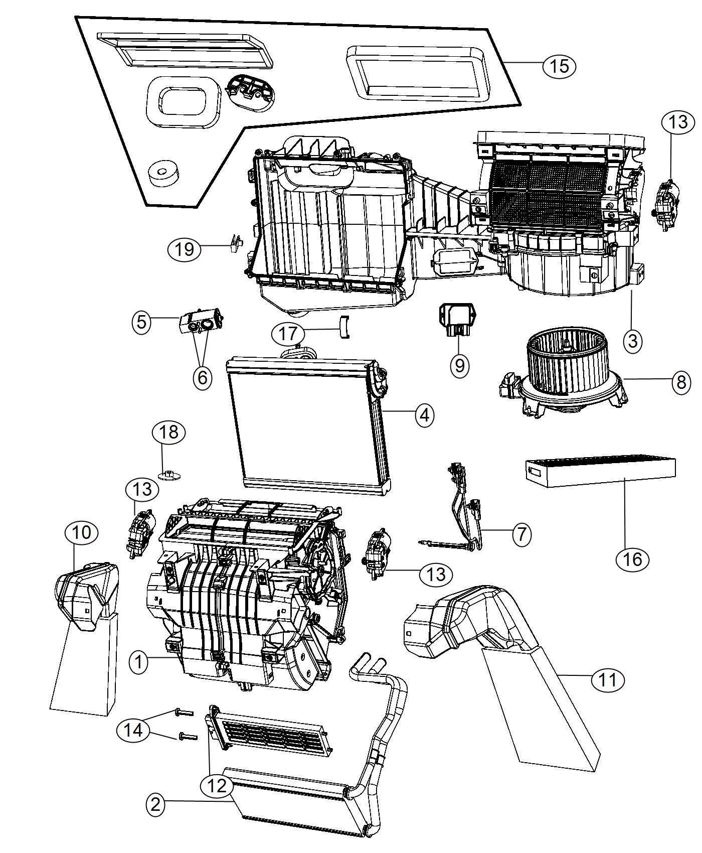 Jeep Wrangler Core Heater Export Mexico